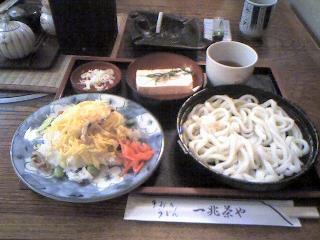 一兆茶や 穴子ちらし寿司讃岐うどん