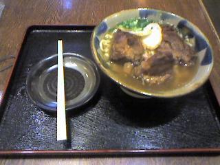 沖縄の 肉そば@北谷町