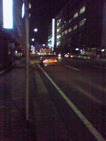 深夜の京都では、、