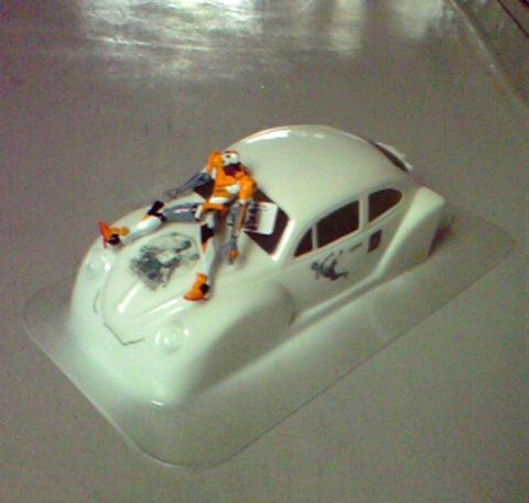 ビートル ラジコンのボディ塗装